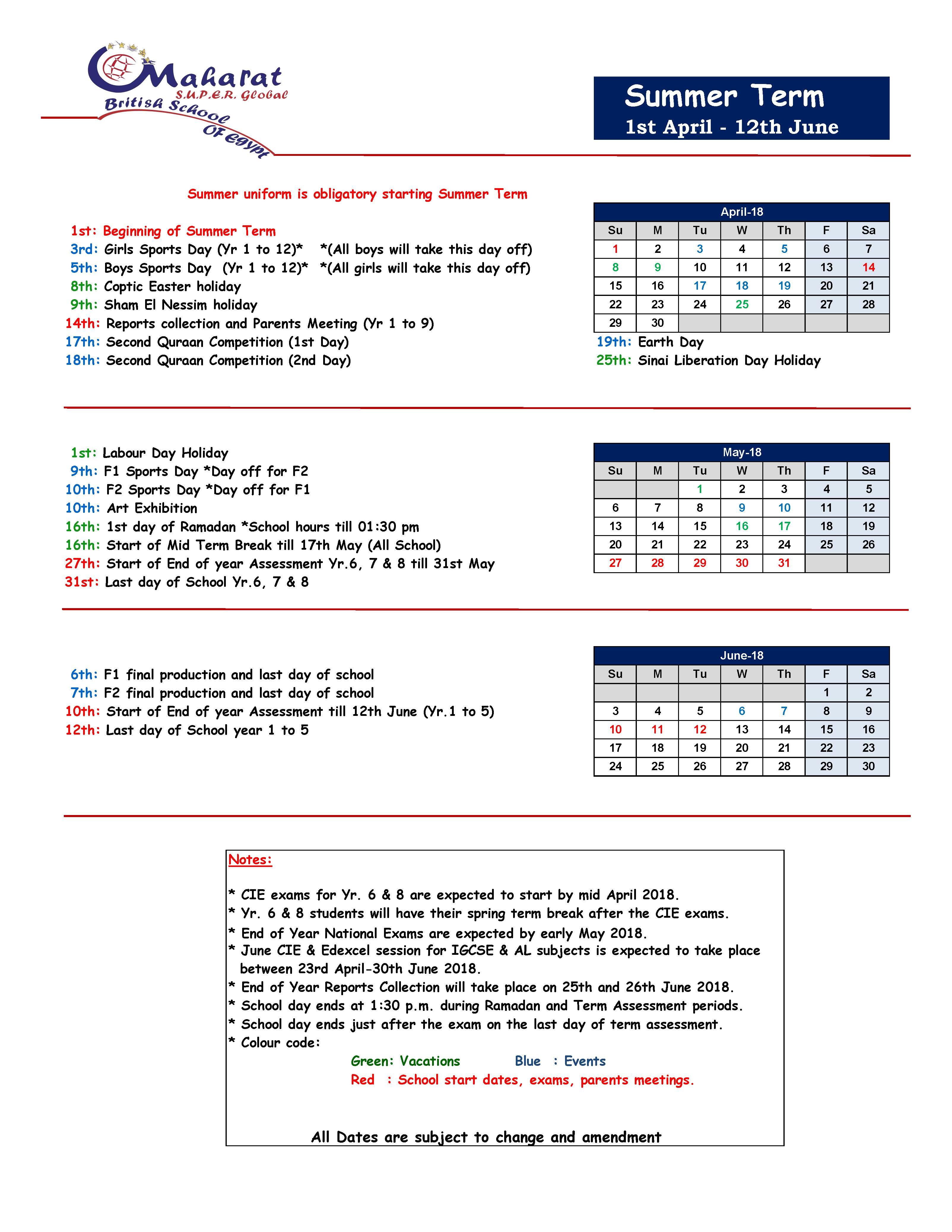 Msg Calendar.Calendar 2017 2018 Maharat Super Global